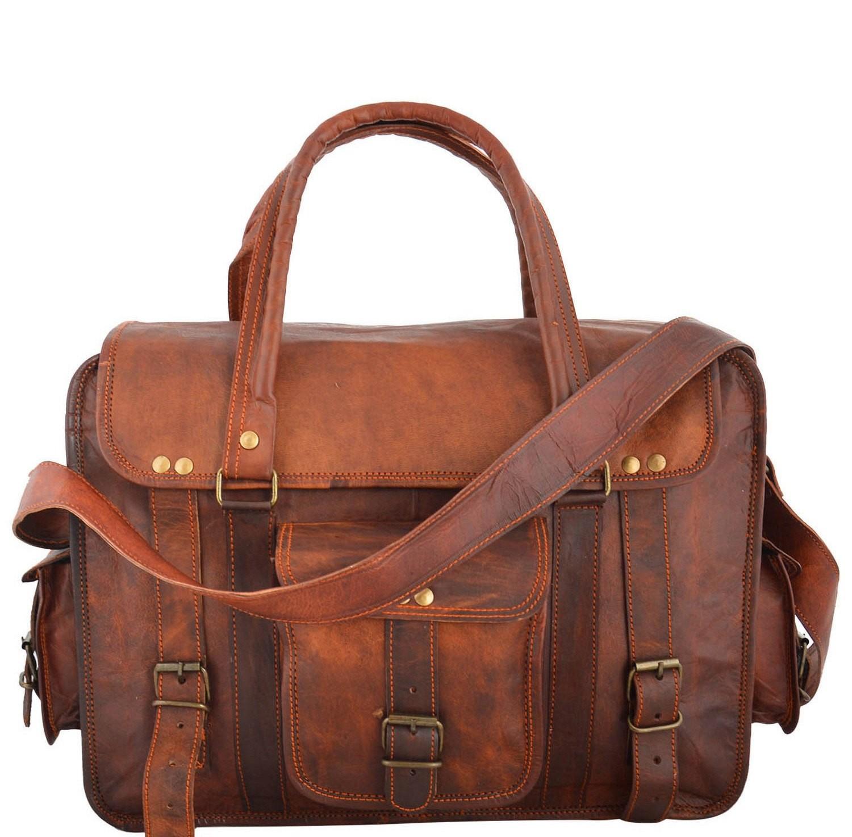 """PH96. RODIN VINTAGE ™ Skórzana torba na ramię  Rozmiar 15"""""""