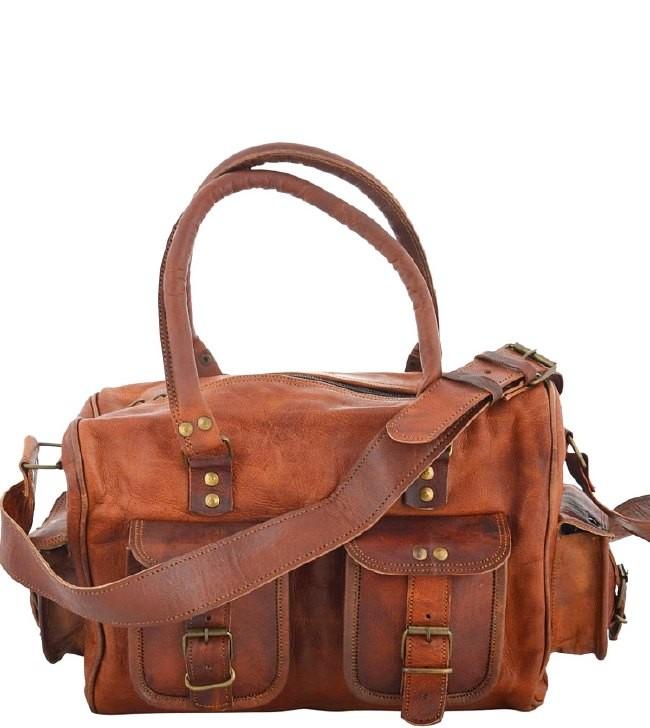 """(24h) PH97. UTTA VINTAGE ™ Skórzana torba na ramię  Rozmiar 16"""" (dostawa w 24h)"""
