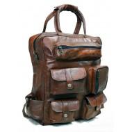 """PH991 LANUTI VINTAGE™ Skórzana torba podróżna / plecak. Rozmiar 16"""""""