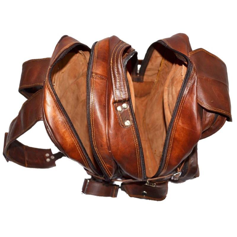 54f87392125b1 PH992 HILLARY VINTAGE™ Skórzana torba podróżna na ramię   plecak. Rozmiar  16