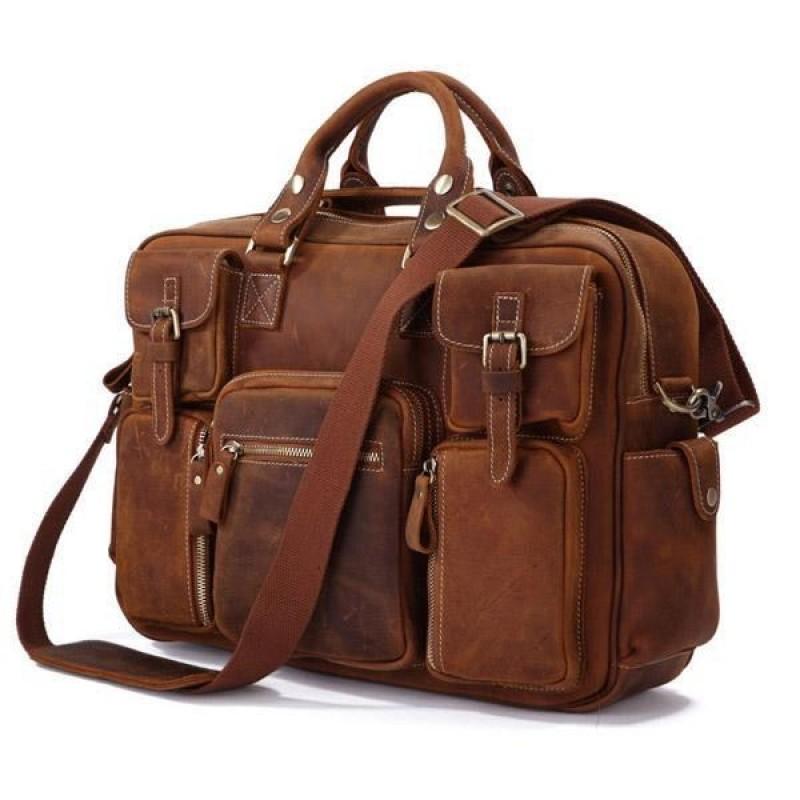 f9f6a6e5ad838 PH995 SCOTH TRAVELER™ Skórzana torba podróżna na ramię. Rozmiar 17