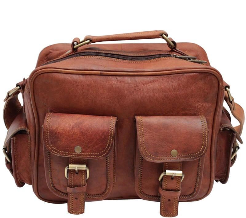 """PH997. RUSTIC VINTAGE™ Skórzana torba podróżna na ramię. Rozmiar 15"""""""