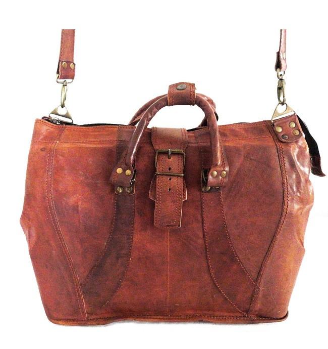 """PK7 HARRIS TRAVELER VINTAGE™ Skórzana torba podróżna na ramię. Rozmiar 17"""""""