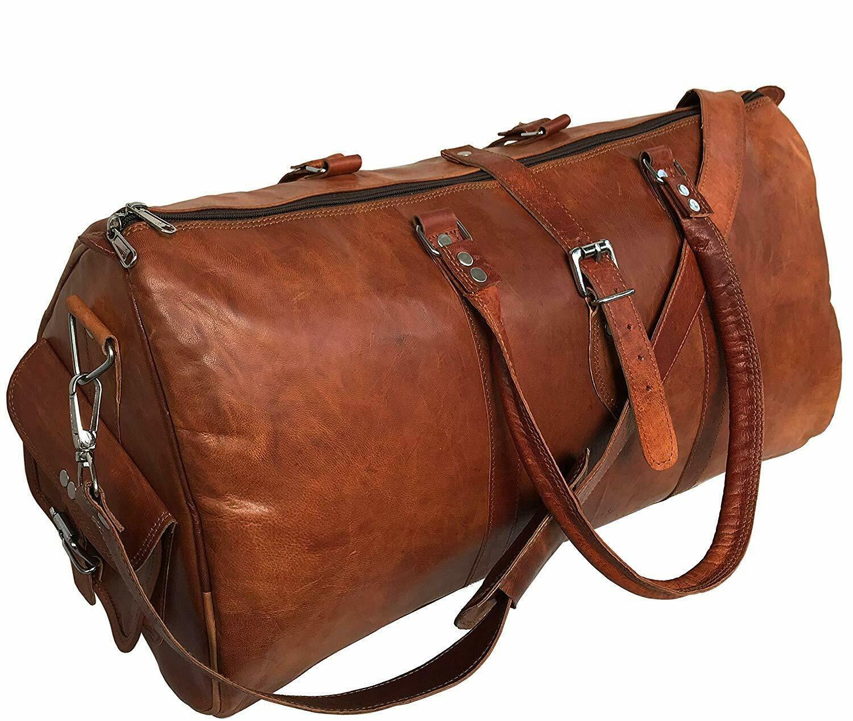 """PH998A TRIANGULAR III LESACK™ Skórzana torba podróżna na ramię. Rozmiar 24"""""""