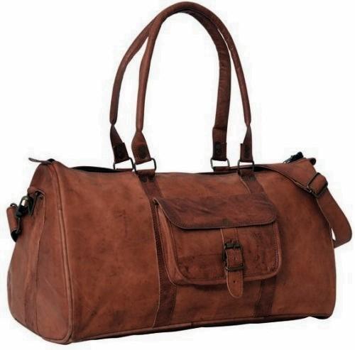 """PK1 TRIANGULAR LESACK™ Skórzana torba podróżna na ramię. Rozmiar 20""""-30"""""""