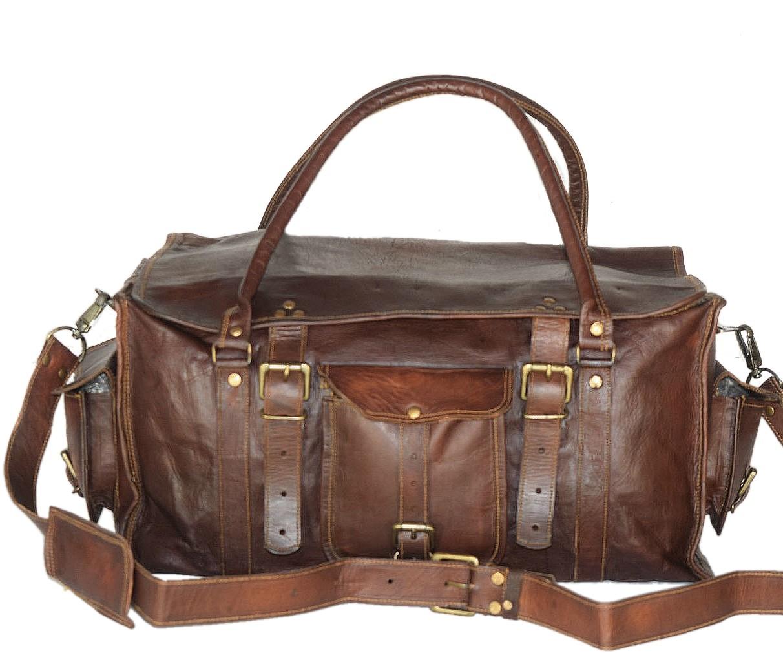 """PK2 MARCO POLO™ Skórzana torba podróżna na ramię. Rozmiar 20"""""""