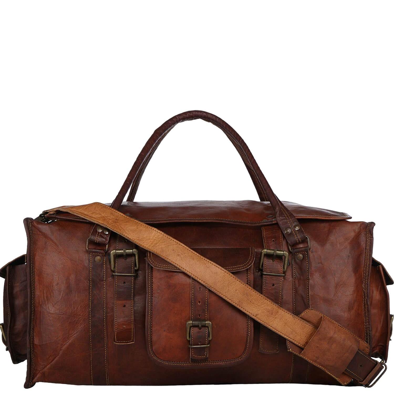 78716b5262093 PK2 MARCO POLO™ Duża skórzana torba podróżna na ramię. Rozmiar 24