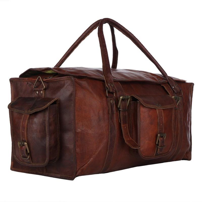 7e6e9f16bc4ea ☆ MARCO POLO™ Skórzana torba podróżna na ramię męska / damska