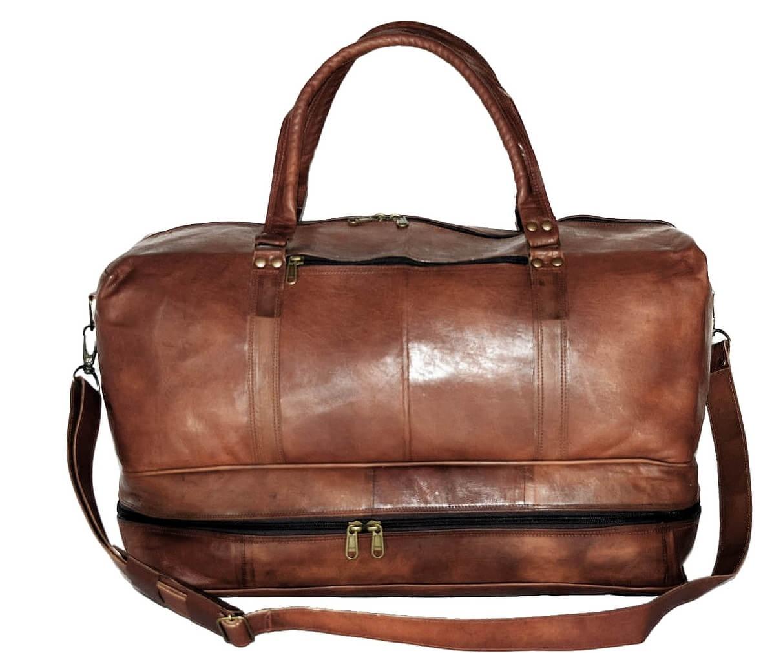 """PK3 COLUMNIA™ Skórzana torba podróżna na ramię. Rozmiar 21"""""""