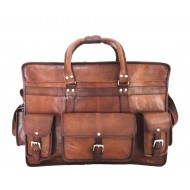 """PK5 SHAKUN VINTAGE™ Skórzana torba podróżna na ramię. Rozmiar 22"""""""