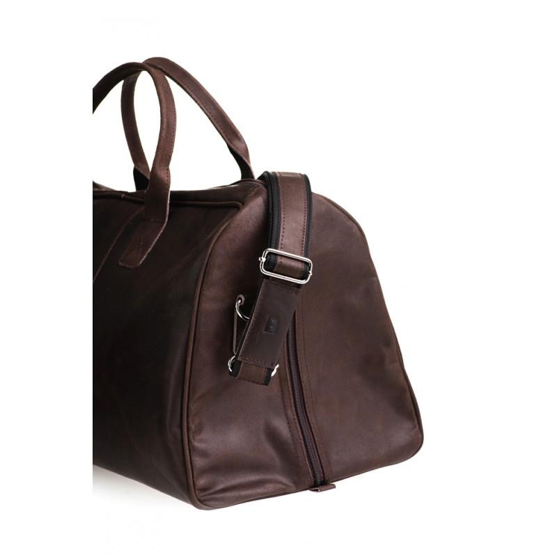 28966539f1a39 Skórzana torba podróżna na ramię męska   damska Rozmiar 21