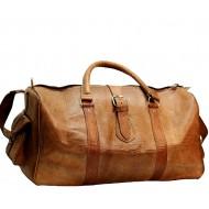 "(24) PH80. Skórzana torba podróżna na ramię BERBER III TRAVELER GOAT™  Rozmiar 24"""