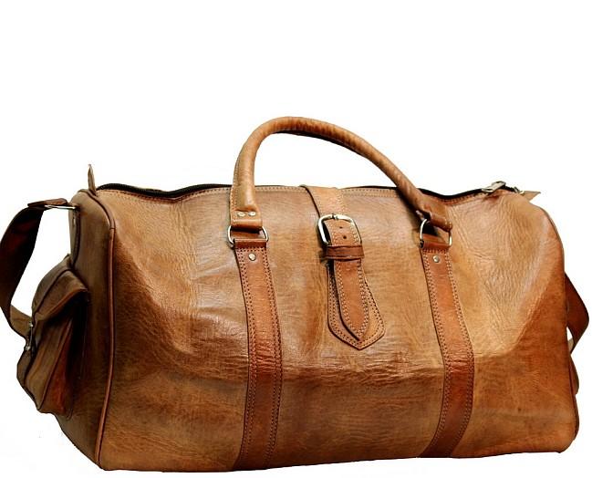 "PH80. Skórzana torba podróżna na ramię BERBER III TRAVELER GOAT™  Rozmiar 24"" - 30"""