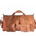 "PM5. Skórzana torba podróżna na ramię męska / damska AGADIR TRAVELER™ Rozmiar 20"" - jasnobrązowy"