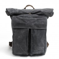 9fa4d5997ee30 PL2 WAX SONIA™ Plecak unisex z woskowanego płótna bawełnianego - SZARY