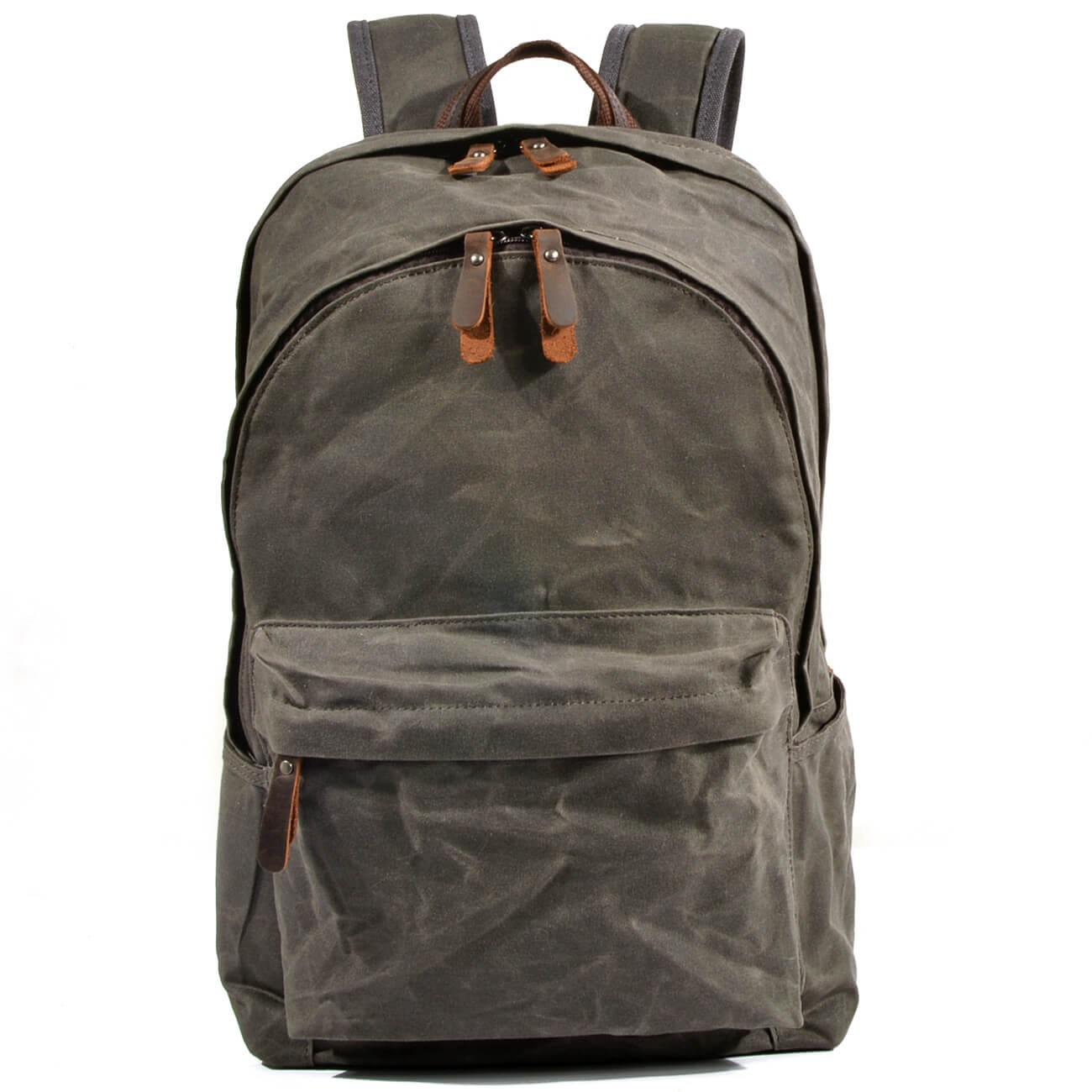 fbde960d9b513 PL3 WAX BOSTON™ Plecak unisex z woskowanego płótna bawełnianego - CELADON