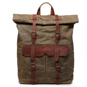 5d10d3a9ccf10 PL7 VINTAGE KANTHARA™ Plecak unisex z grubego płótna bawełnianego - BRĄZOWY