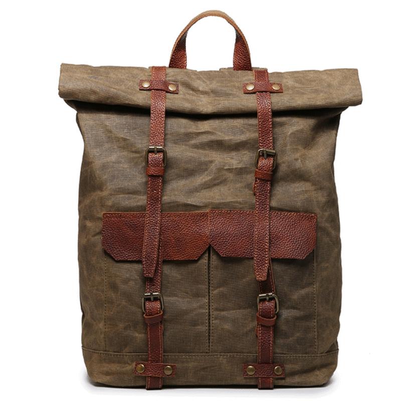 b6c72fcc6669e NOWA PL7 VINTAGE KANTHARA™ Plecak unisex z grubego płótna bawełnianego -  BRĄZOWY