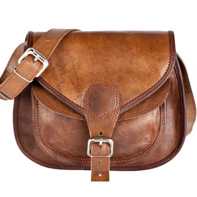 f37d625478e95 ☆ TD3 Skórzana torebka damska na ramię. Skóra naturalna vintage