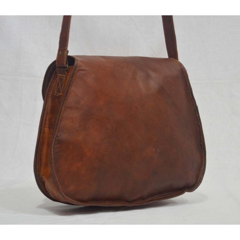 568faa4f40c65 ☆ TD8 Skórzana torebka damska na ramię. Skóra naturalna vintage