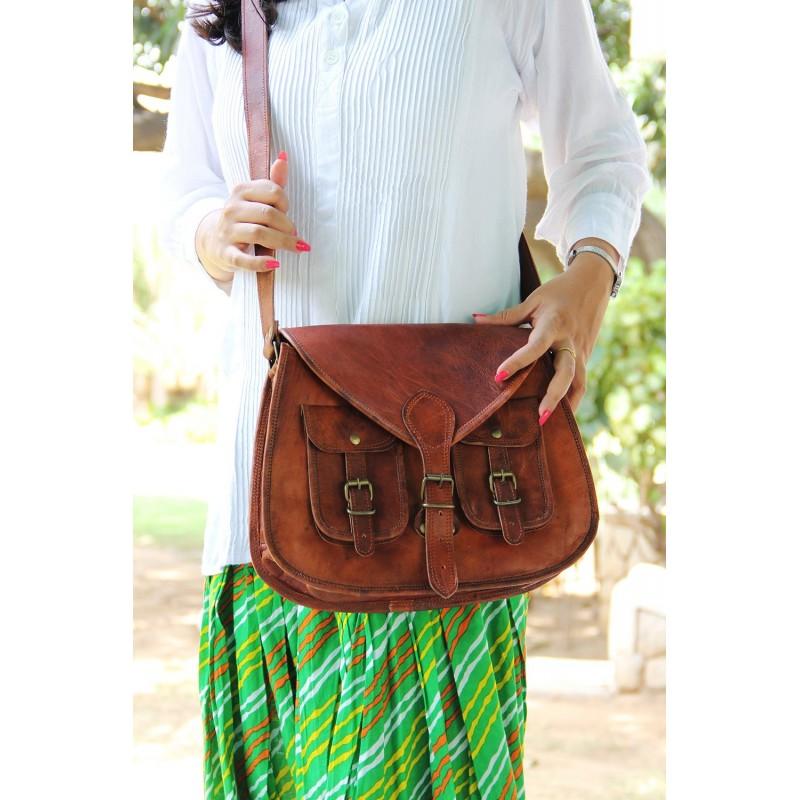 e3a0a35b30e30 TD9. Skórzana torebka damska na ramię VIVIAN VINTAGE™ Rozmiar 13
